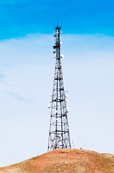 Cellular tower on a hill