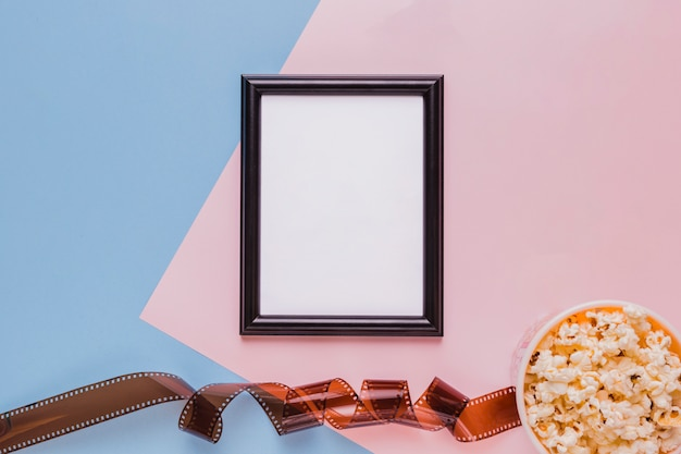 Celluloid with popcorn box and a frame