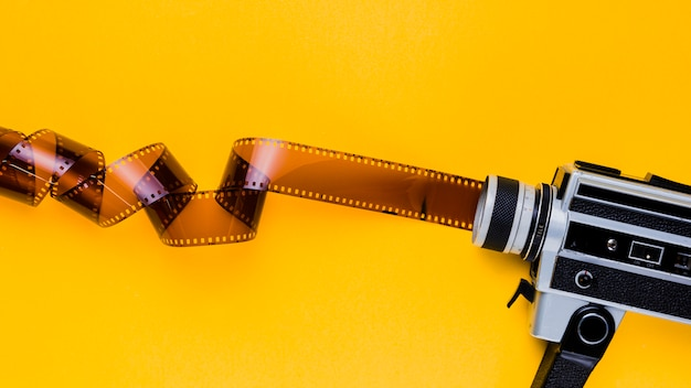 Celluloid with vintage videocamera