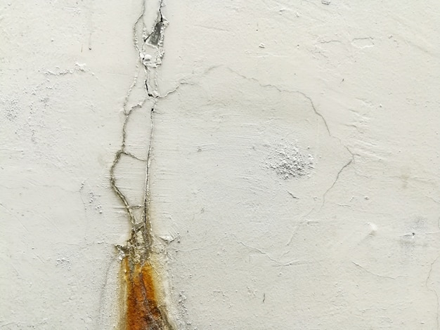 Cement crack wall close up