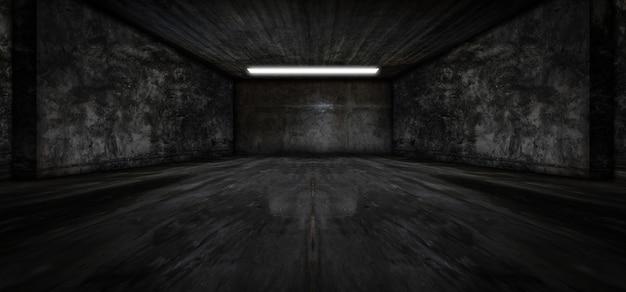 Cement dark parking underground car warehouse garage studio rough modern reflective.