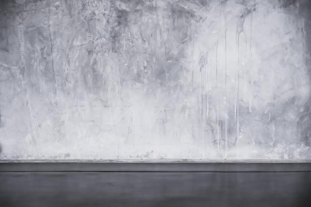 Цементный пол и стены фоны, темная комната, интерьер.