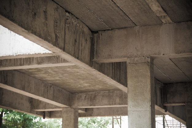 Cement piles and concrete piles construction site