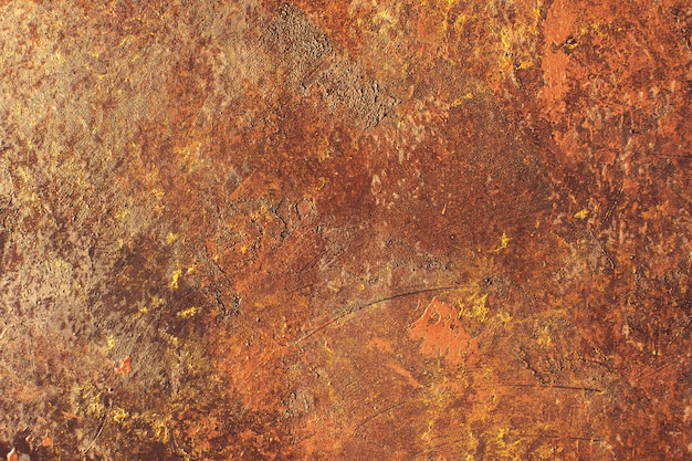 Cement rough surface with rust style texture