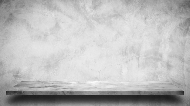 Cement shelf and bare concrete wall backgrounds