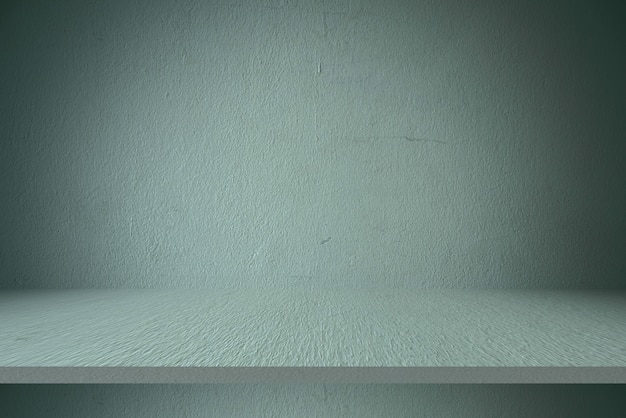 Cement shelf table and wall backgrounds, for display products