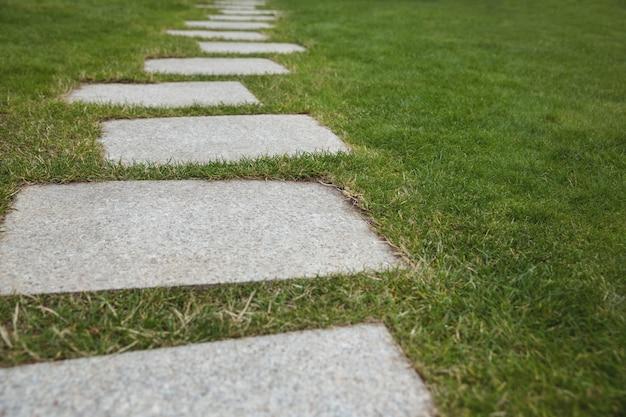 Passerella di cemento nel giardino