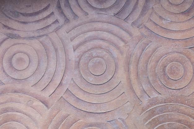 배경에 대한 원형 패턴 바닥이 있는 시멘트.