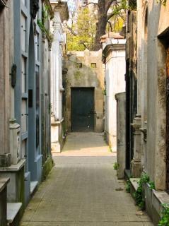 Cemetery scape, christian