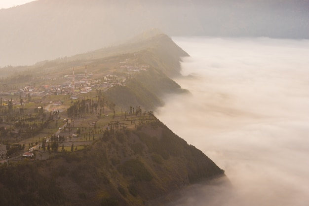Cemoro lawang village at mount bromo in bromo tengger semeru national park