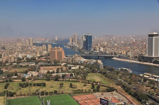 Center of cairo on nile river, egypt