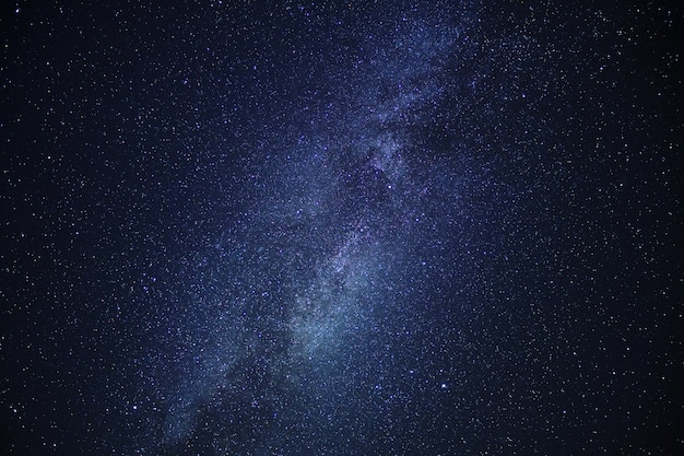 Center of the milky way galaxy on night sky.