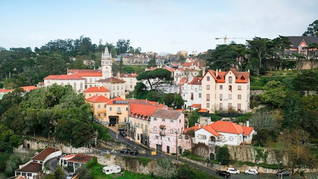 Center of the town of sintra in portugal.