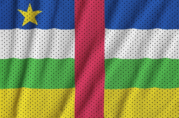 Флаг центральноафриканской республики напечатан на полиэстере и нейлоне