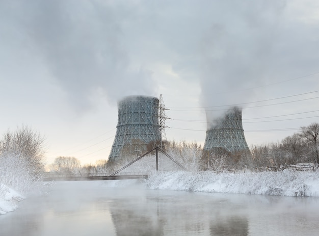 Central electric heat chp in winter