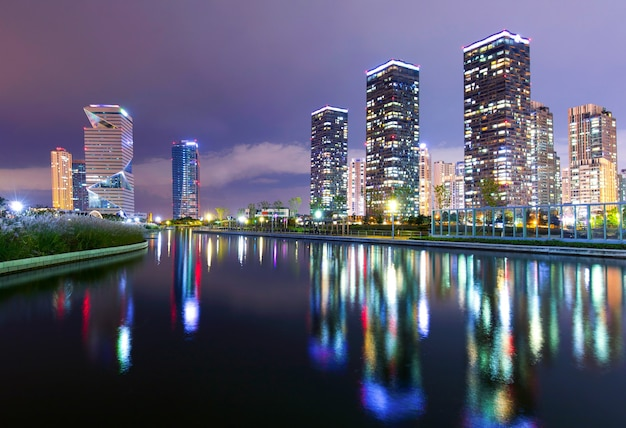 Central park in songdo international business district incheon south korea.
