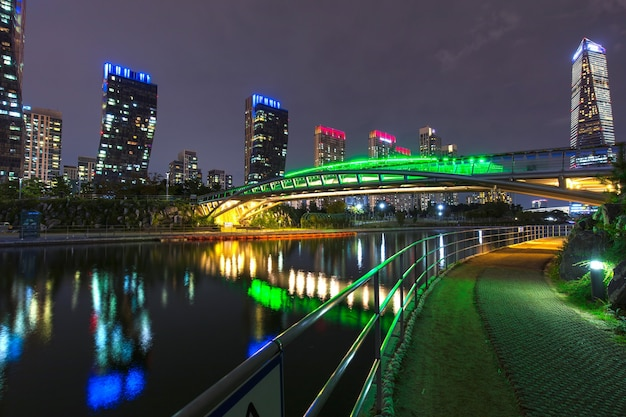 Central park in songdo international business district in incheon south korea.