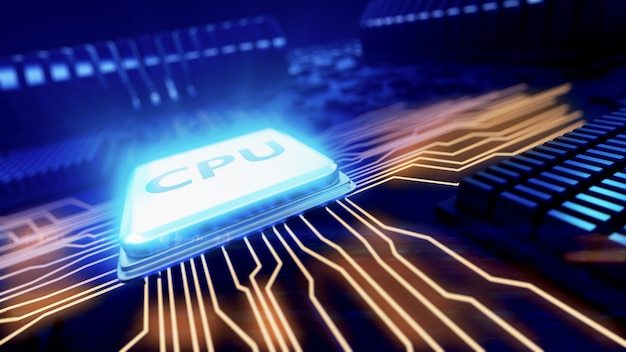Central processor unit on mainboard