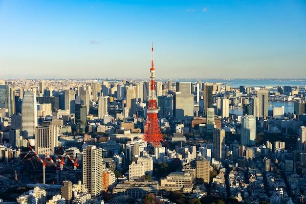 도쿄 중심부와 도쿄 타워