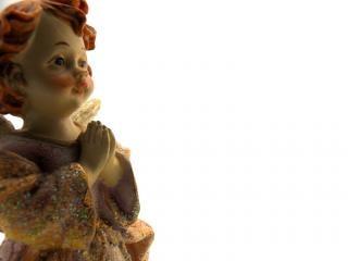 Ceramic angel, metallic