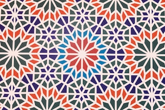Ceramic background with geometric shapes