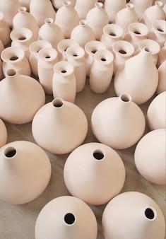 Ceramic bottle baked clay