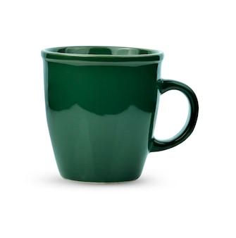 Керамическая чашка, изолированная на белом