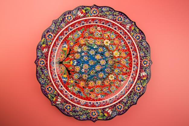 Ceramic decorative dish hand painted