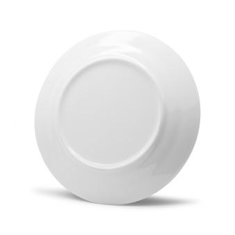 Ceramic dish isolated on white background.