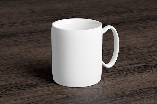 Ceramic mug on a wood