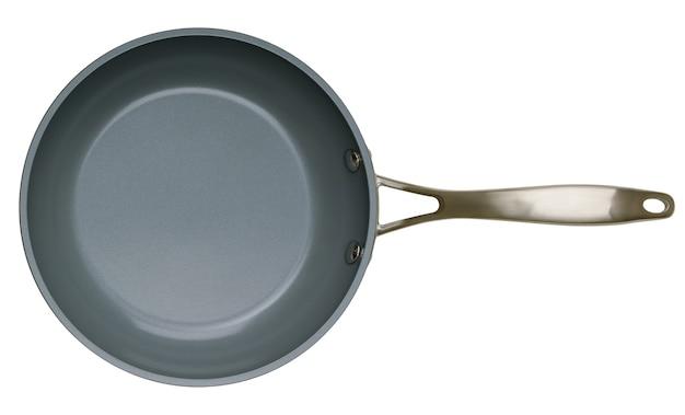 Ceramic pan isolated on white background