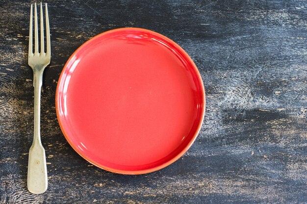 Ceramic plat and fork