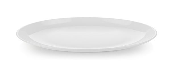 白で隔離セラミックプレート