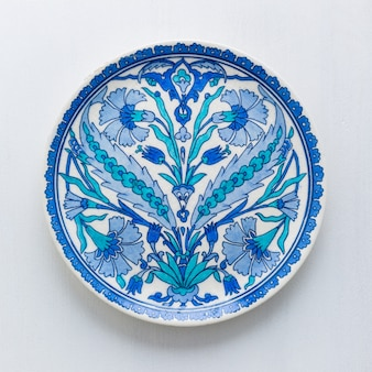 Ceramic plate with turkish ornament