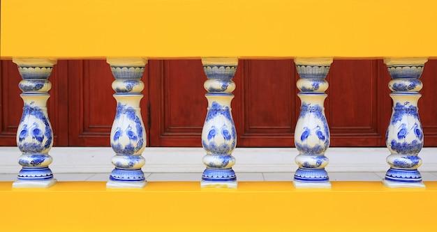 Ceramic porcelain railings.