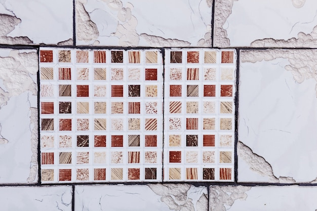 Ceramic tiles in oriental style. portugal ceramic tiles on the wall. wall ceramic porcelain tiles for the home, restaurant decoration. street tiles in colors