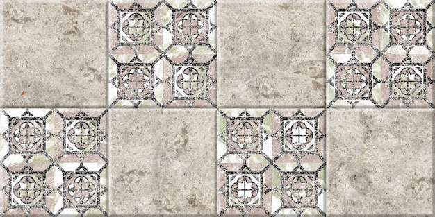 Ceramic tiles with natural marble texture and pattern.