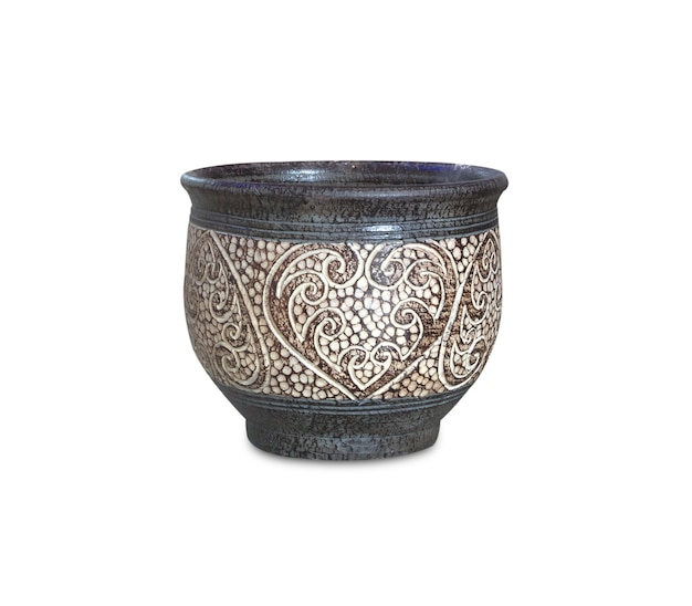 Ceramic vase flower pattern