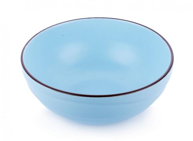 Ceramics bowl isolated on white background