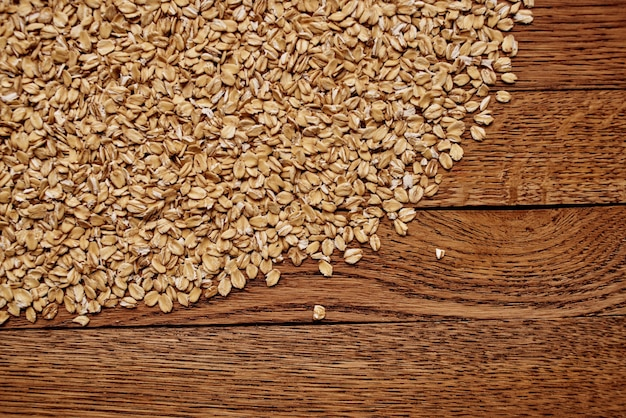 Cereal on the table kitchen products wood background
