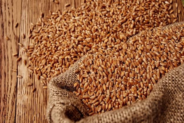 가방 건강 한 아침 식사 근접 촬영에 곡물