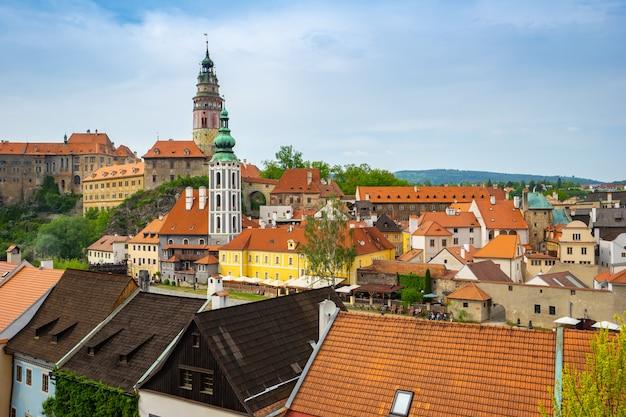 Cesky krumlov old town in czech republic