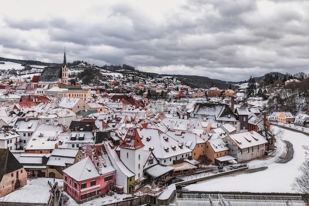 Cesky krumlov winter day