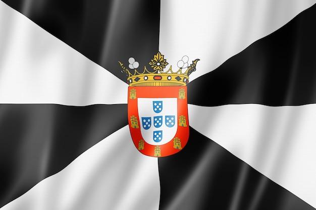 Ceuta province flag, spain waving banner collection. 3d illustration