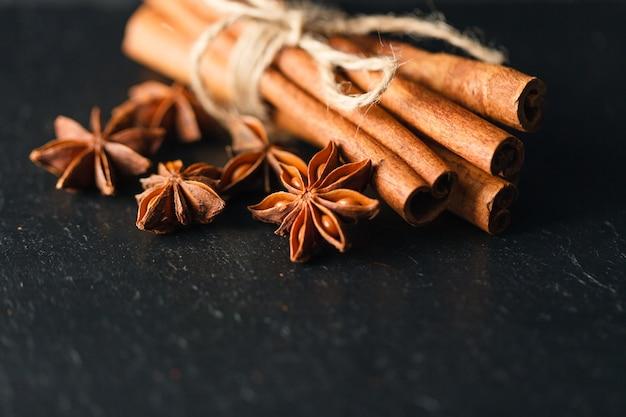 Ceylon cinnamon sticks in a sheaf
