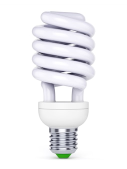 Cfl bulb on white background