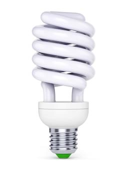 白い背景の上のcfl電球