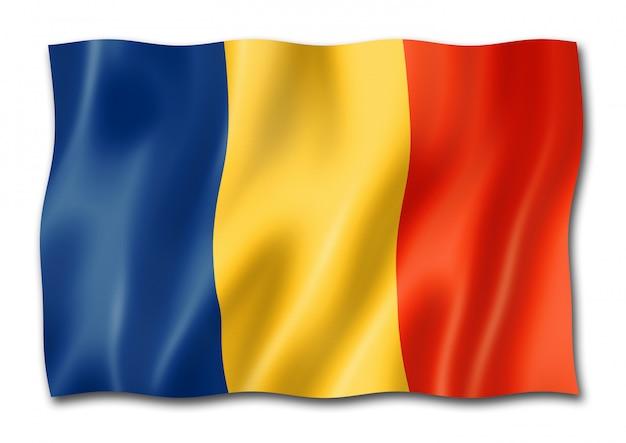 Chad flag isolated