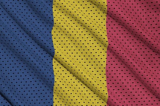 Chad flag printed on a polyester nylon sportswear