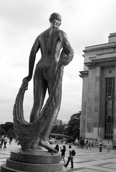 Chaillot palace statue in paris france